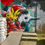 Grafitti in de binnenstad van Leeuwarden